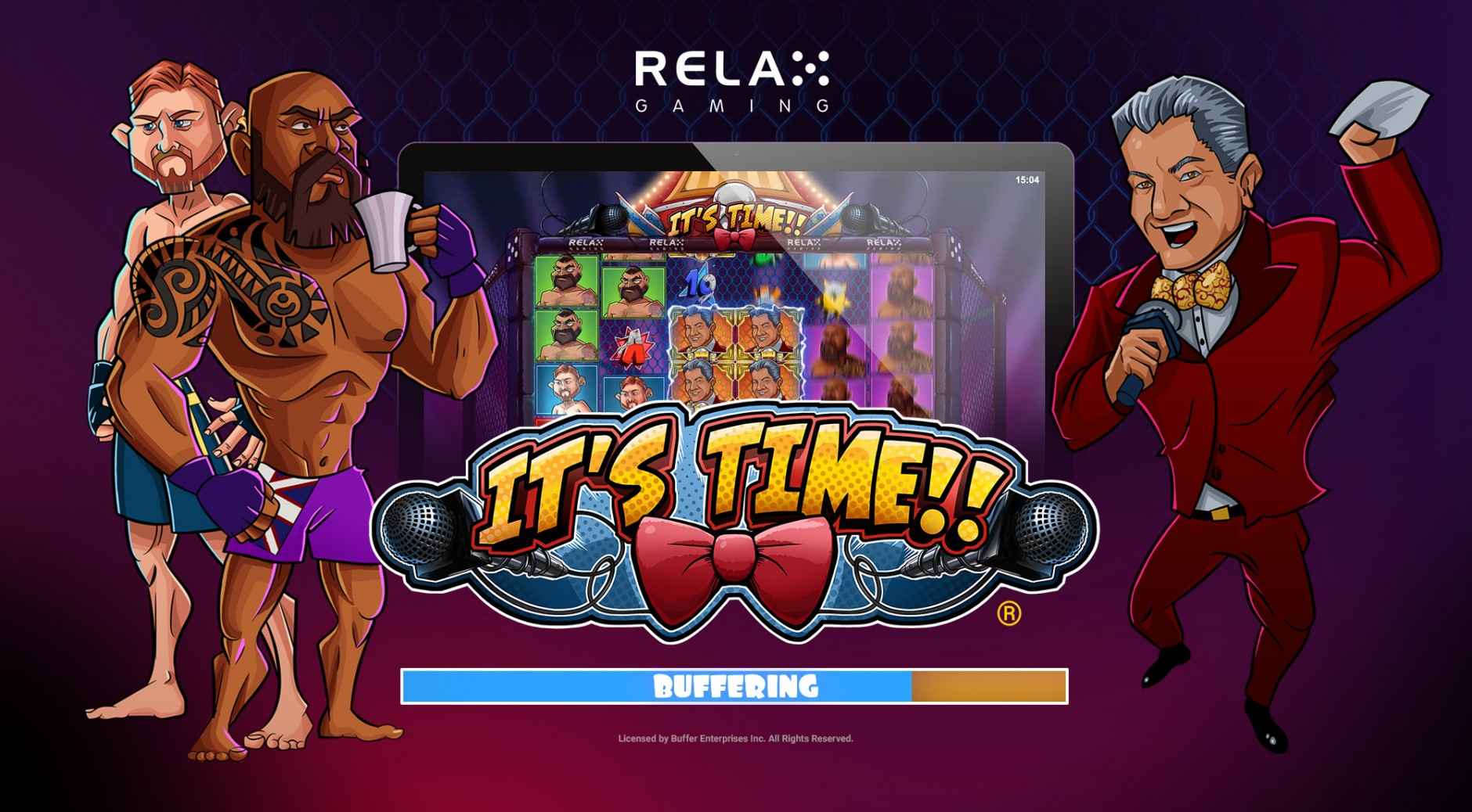 Официальное казино Вулкан, игровой автомат IT'S TIME, азартные игры, играть на деньги, игровые слоты, Брюс Баффер, MMA, UFC, Relax Gaming